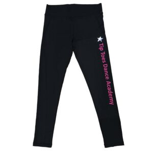 tip toes dance academy leggings