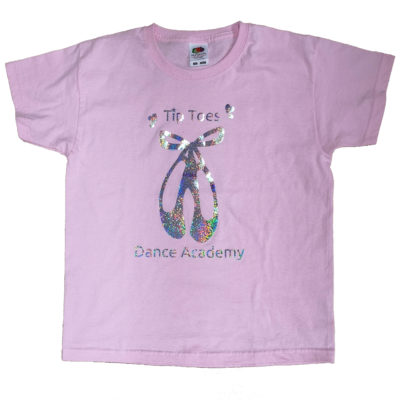 Tip Toes Dance Pink Ballet Shoes T-shirt